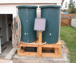 Green Solar Powered Water Barrel