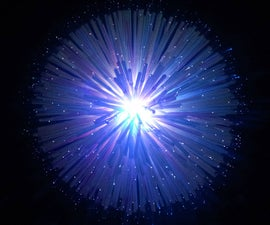 Fiber Optic LED Dandelion Lamp