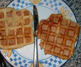A European Style Waffle. (this stuff is lush)