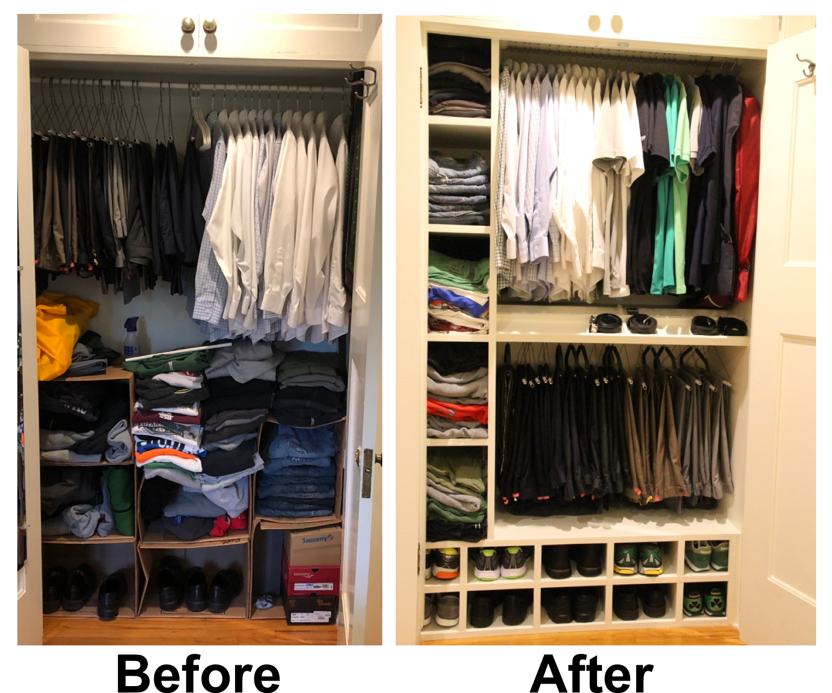 Closet Transformation Fixing An Old Closet 19 Steps With