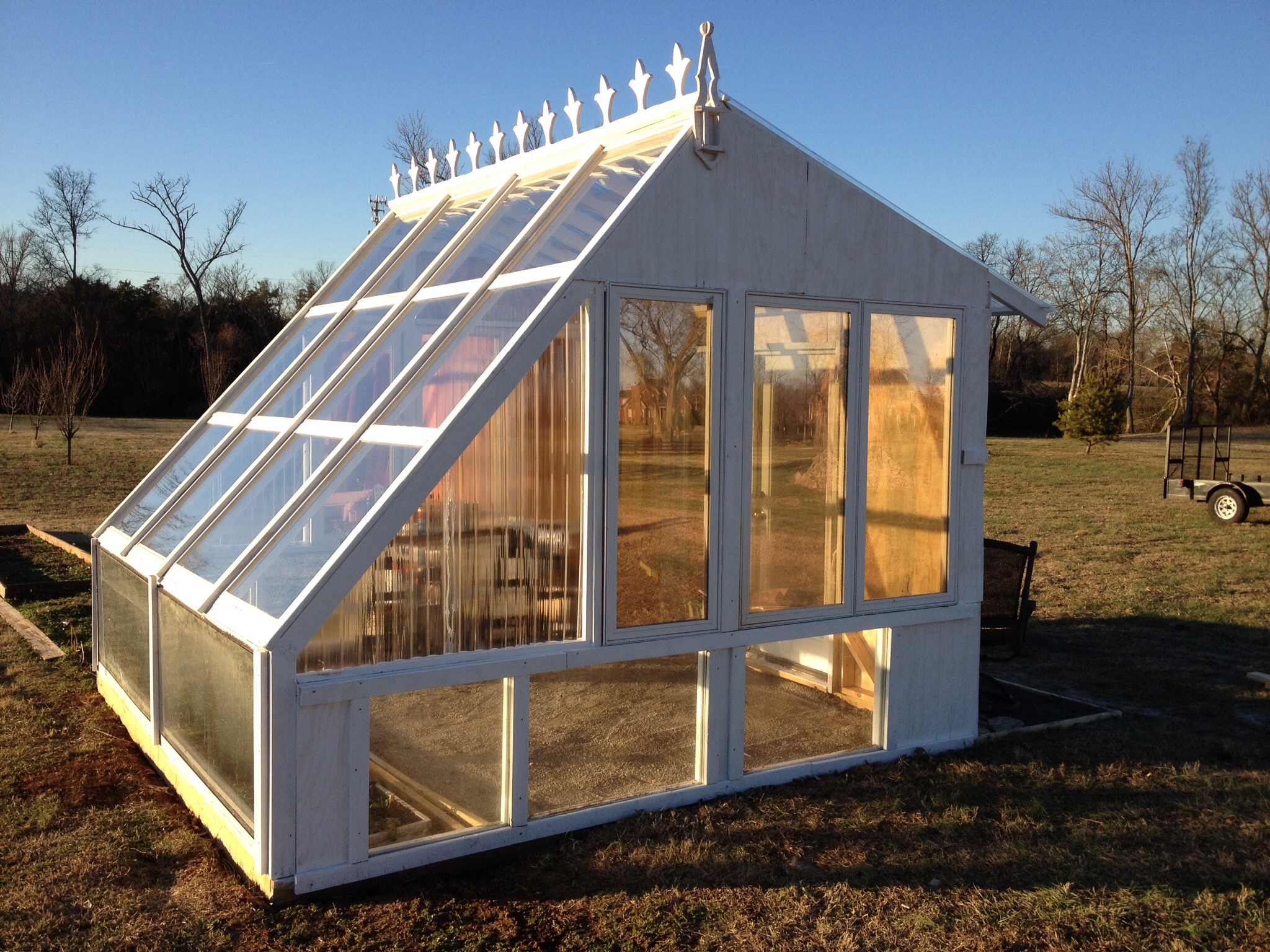 Picture of Backyard Greenhouse From Reclaimed Windows