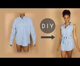 DIY Button Up Sleeveless Dress (Beginners Sewing)