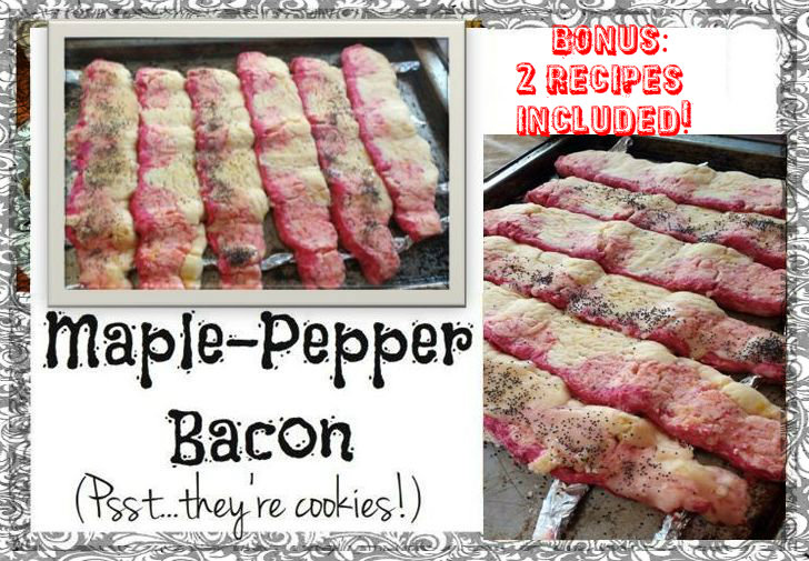 Picture of Deceptive Maple-Pepper Bacon (cookies!)