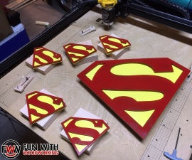 Project - CNC Superman Logos