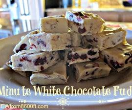 5 Minute White Chocolate Fudge