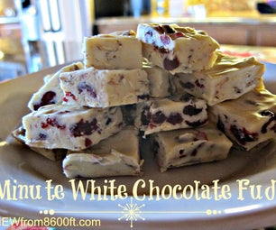 5 Minute White Chocolate Fudge