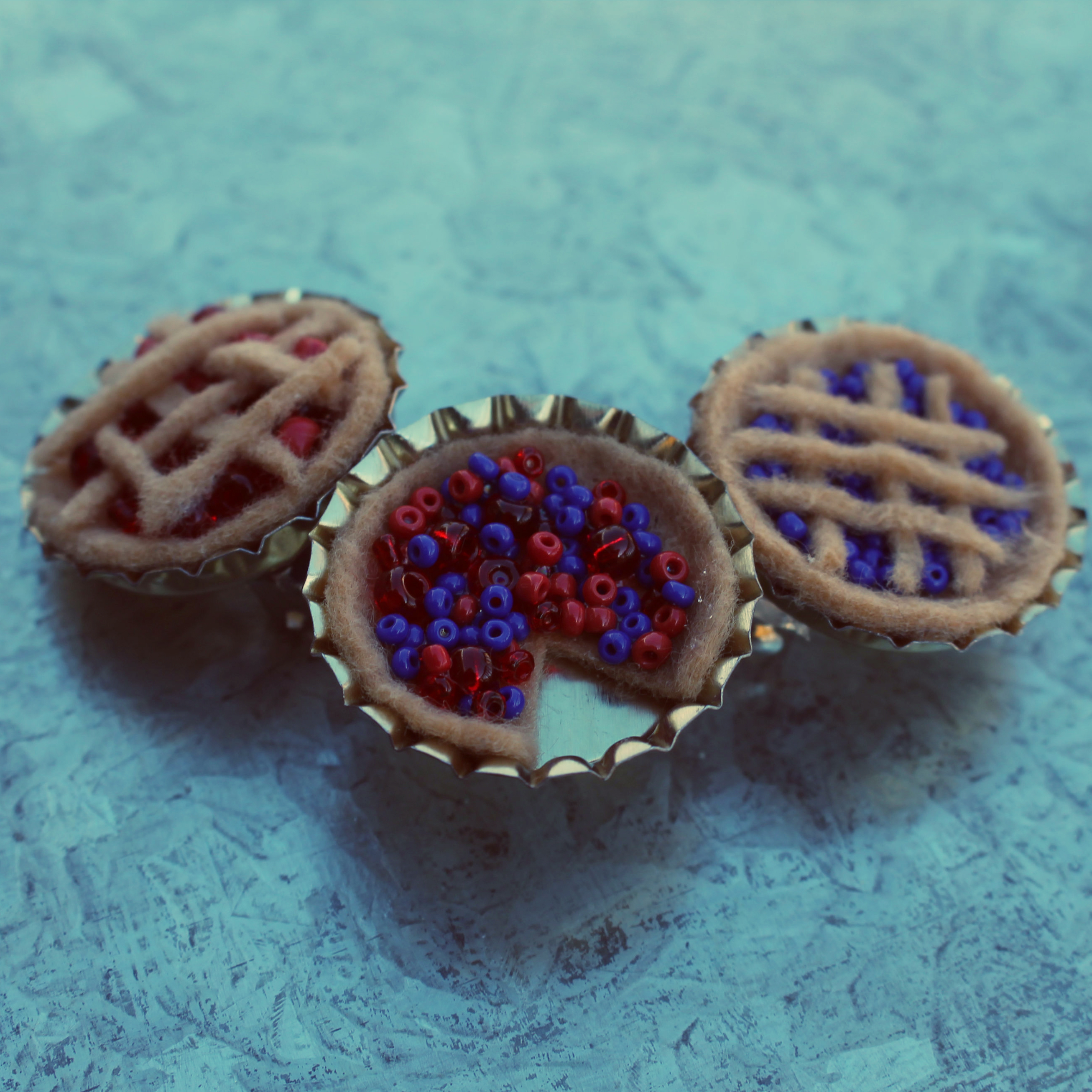 Picture of Tiny Felt Pies