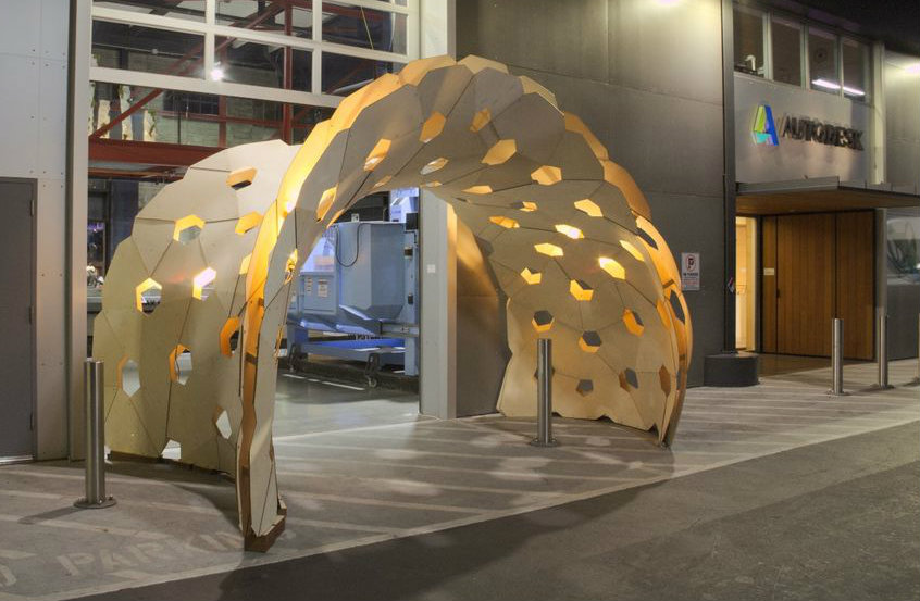 Picture of Design and Fabrication of a Bending-Active Pavilion