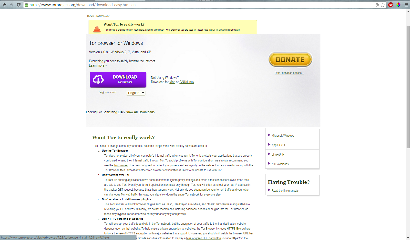 Picture of Tor Browser