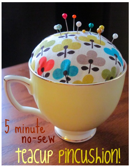 Picture of DIY: No-Sew Teacup Pincushion