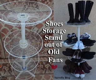 Shoes Storage Stand Out of Old Fans