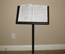 Make a Music Stand From Spare Parts