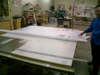 Obtain a Roll of TYVEK House Wrap to Your Size Requirements.