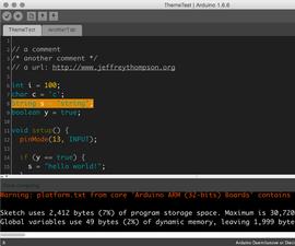 IDE Arduino With Dark Theme