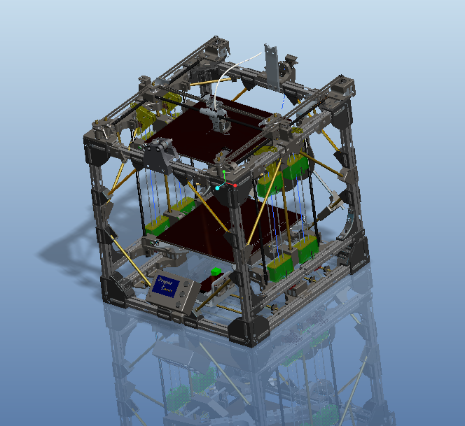 """Picture of How to Create a Large 3D Printer Using a Smaller 3D Printer - """"Project Locus"""""""