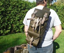 Custom Leather Sling Style Backpacks and Dog Harness