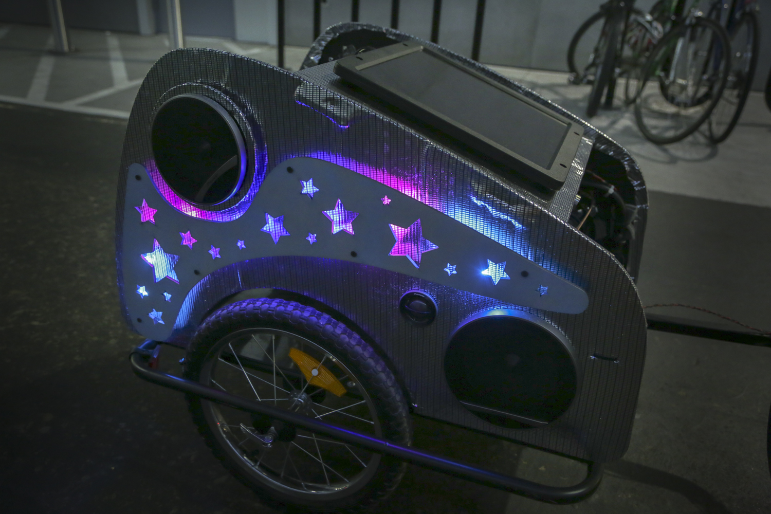 Picture of Solar Powered Disco Bike Trailer