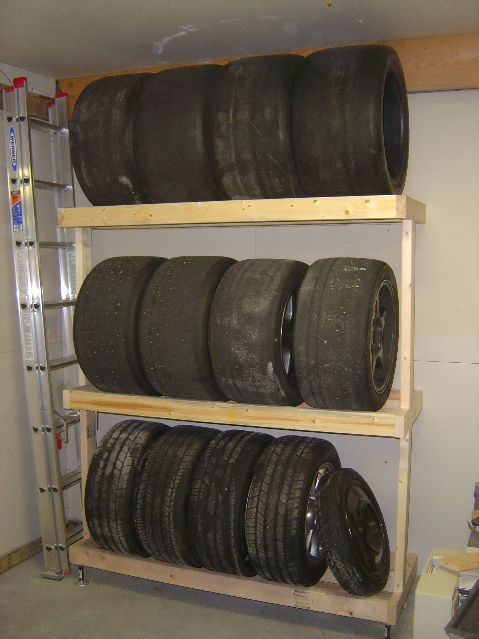 How To Build A Tire Rack 6 Steps With Pictures