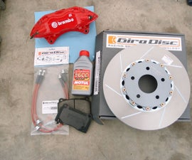 Disk Brake Pads, Rotor, and Caliper Replacement