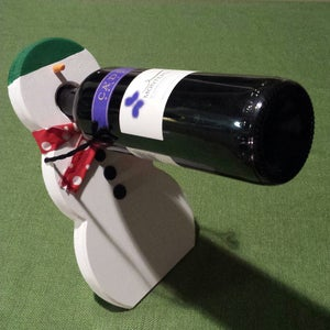 Wine Balancing Snowman