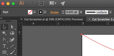 Picture of .001 Line Thickness for Cutting in Adobe