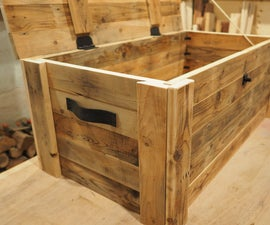 Reclaimed Wood Storage Chest
