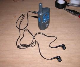 Add a headphone socket to your walkie talkies.