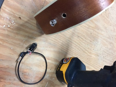 Drill the Hole for the Jack Input