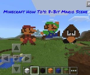 Minecraft How-To's: 8 Bit Mario Scene