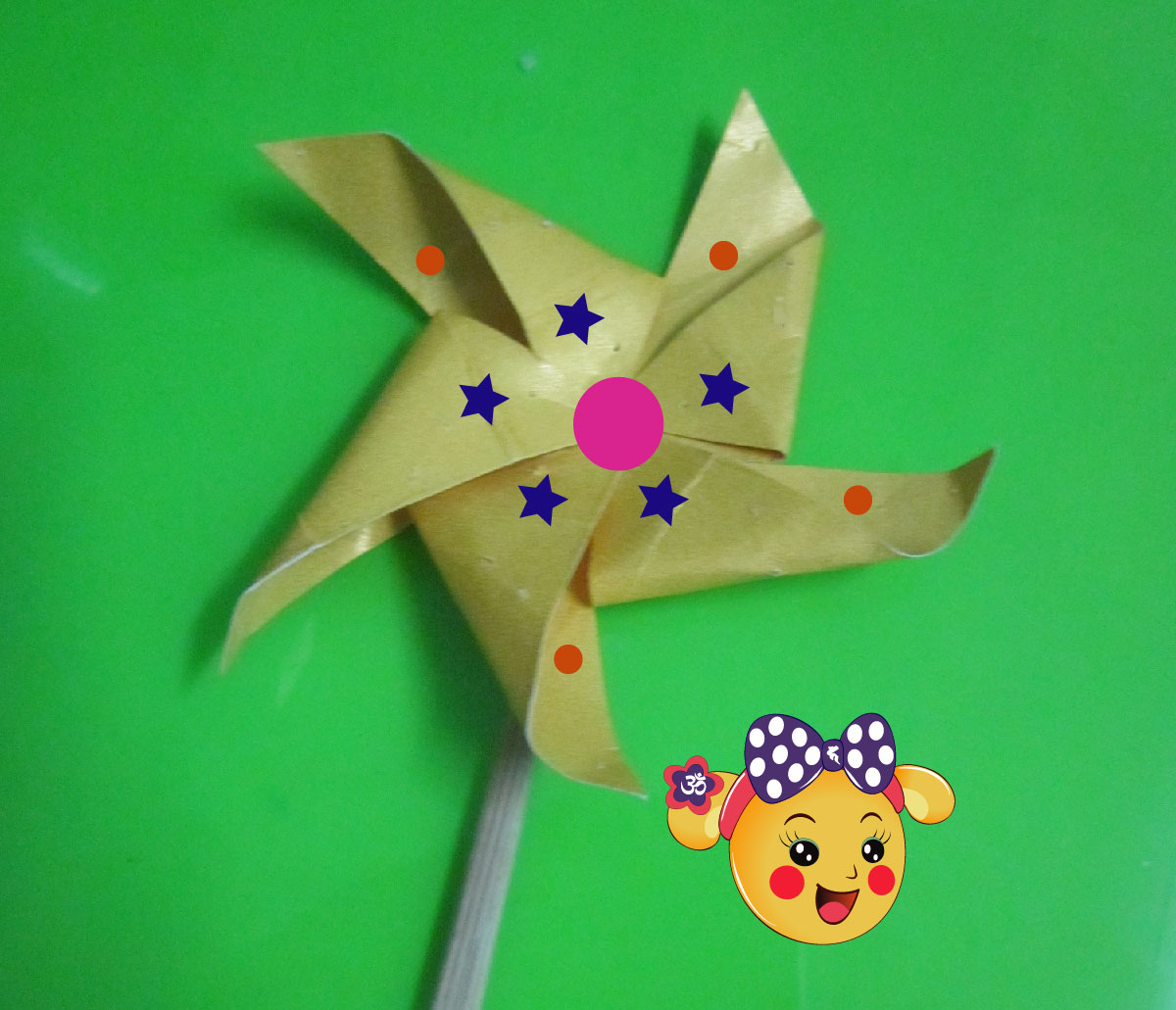 Picture of Decorating the Pinwheel.
