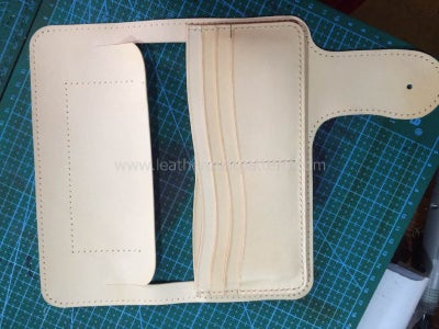 Sew Card Slot Back Leather With Bill Slot Leather.
