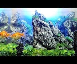 How to Make Artificial Rock Aquarium  Sunset Diorama Aquarium   Aquascape Aquarium