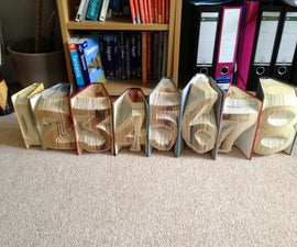 Folding Book Art - Wedding Table Numbers