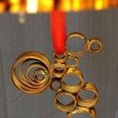 Copper Ring Bird Ornament