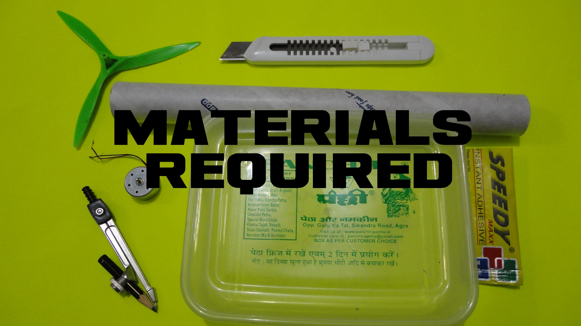 Picture of Materials Required...
