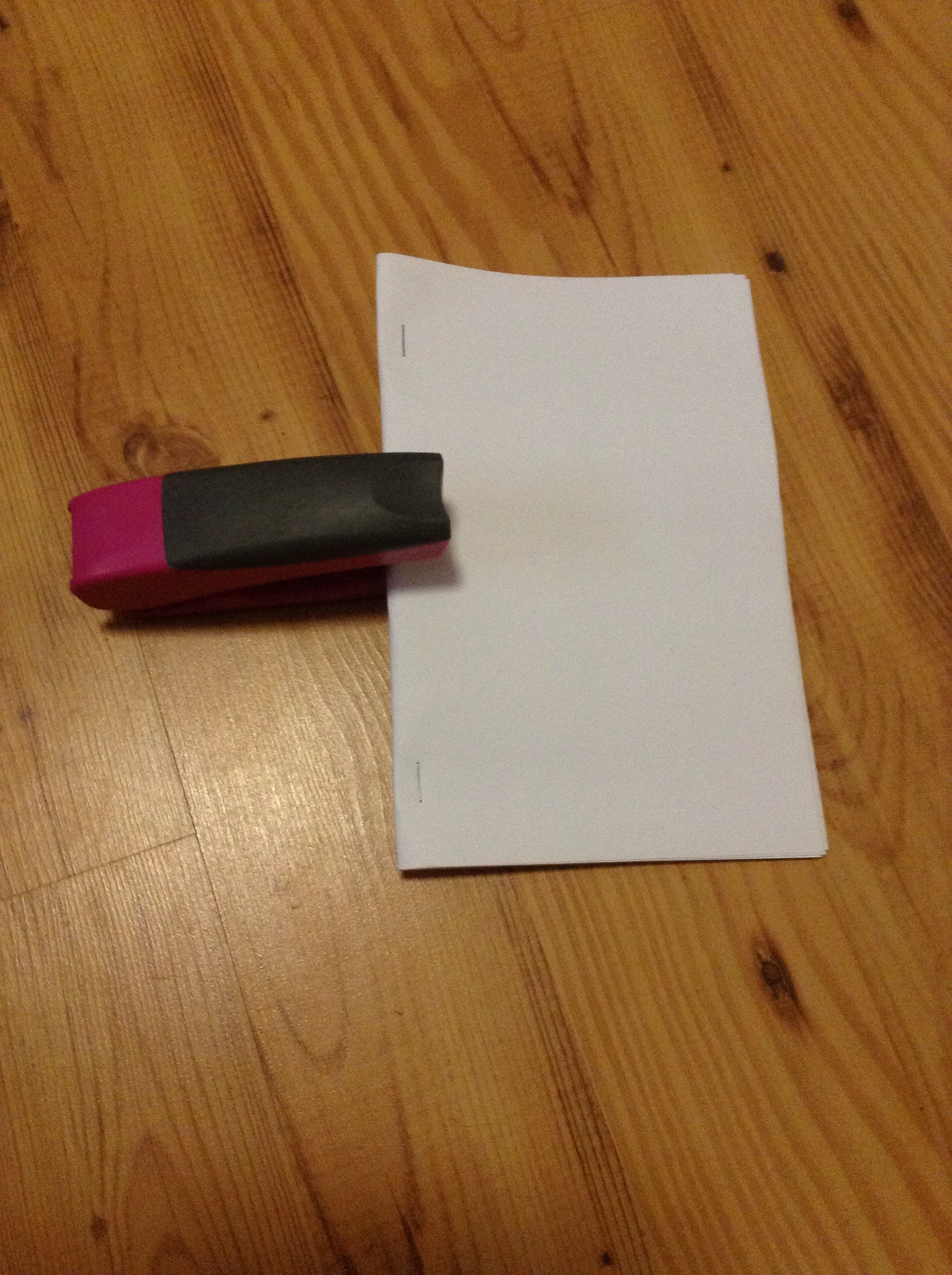 Picture of Staple the Folded Printer Paper