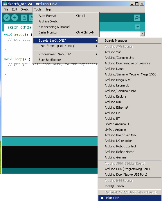 Picture of Configure the Arduino IDE for the LinkIt One