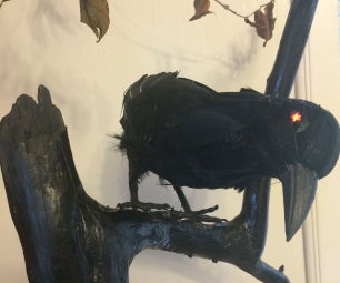 Maleficent's Raven - Robotized Raven With LED Eyes