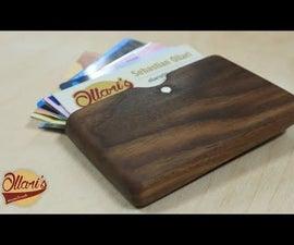 Making a Modern Walnut Wood Wallet / Business Card Holder