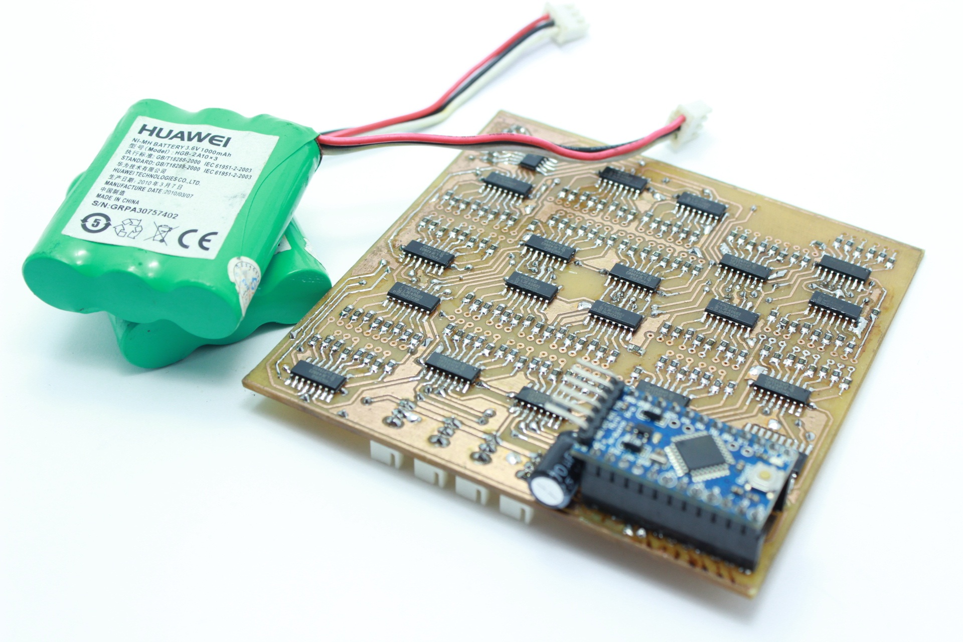 Picture of Connected to the Control Board, Battery