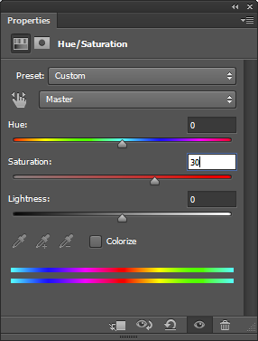 Picture of Open Hue/Saturation Window to Change Some Parameters.
