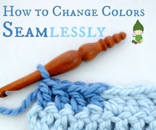 How to Change Colors Seamlessly in Crochet...Without That Little Bridge!