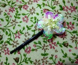 DIY: Sequin Flower Hairpin/Bobby Pin (pseudo-vintage/Victorian!)