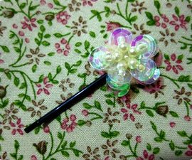 DIY: Sequin Flower Hairpin/Bobby pin (pseudo-vintage/Victorian!)