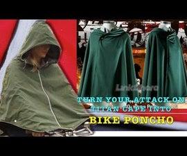 "Turn Your Attack on Titan Cape into Bike Poncho ""進擊的巨人""單車斗篷改造"