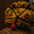 Knitted d20 Dice Bag
