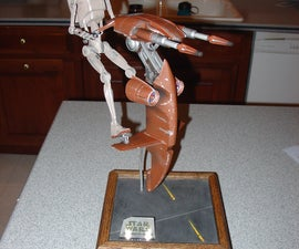 LED Lighted Starwars Battle Droid With STAP Model