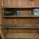 Threaded Rod & Tension Wire Shelf