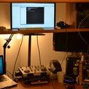Adjustable Height Monitor For Stand Up Desk using Film Enlarger Neck