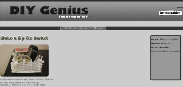 Website (HTML and CSS)